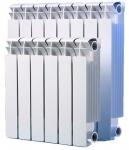 Радиатор биметаллический - 500 мм  (SMS)  8-секций -