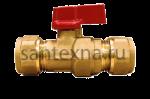 Кран шаровой для металлопластиковой трубы 16 х 16 цанга. SMS -