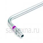 Г-образная трубка для подключения радиатора  ДУ-16, из нержавеющей стали, длина 250 мм TIM -
