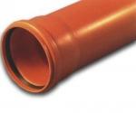 Труба ф. 110   - 1.0 м. (Солекс,оранжевая)