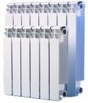 Радиатор биметаллический - 500 мм (SMS)  10-секций