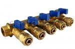 Коллектор 16 х 3/4 с 5-тью выходами, цанговым зажимом ф16 (SMS)