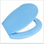 Сидение для унитаза голубое  прямое