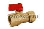 Кран шаровой для металлопластиковой трубы 16 х 1/2 внутреняя резьба.  SMS