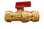 Кран шаровой для металлопластиковой трубы 20 х 20 цанга. SMS