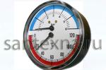 Термоманометр  16 бар аксиальный 1/2 наружная резьба