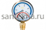 Термоманометр 1/2  10 (бар) радиальный с наружной резьбой.